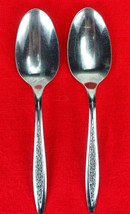 2X Serving Spoons Superior International Silver Petal Lane Stainless Fla... - $11.88