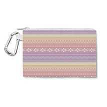 Aztec Tribal Ombre Canvas Zip Pouch - $15.99+