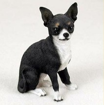 CHIHUAHUA  DOG Figurine Statue Hand Painted Resin Gift Pet Lovers Black ... - $19.99