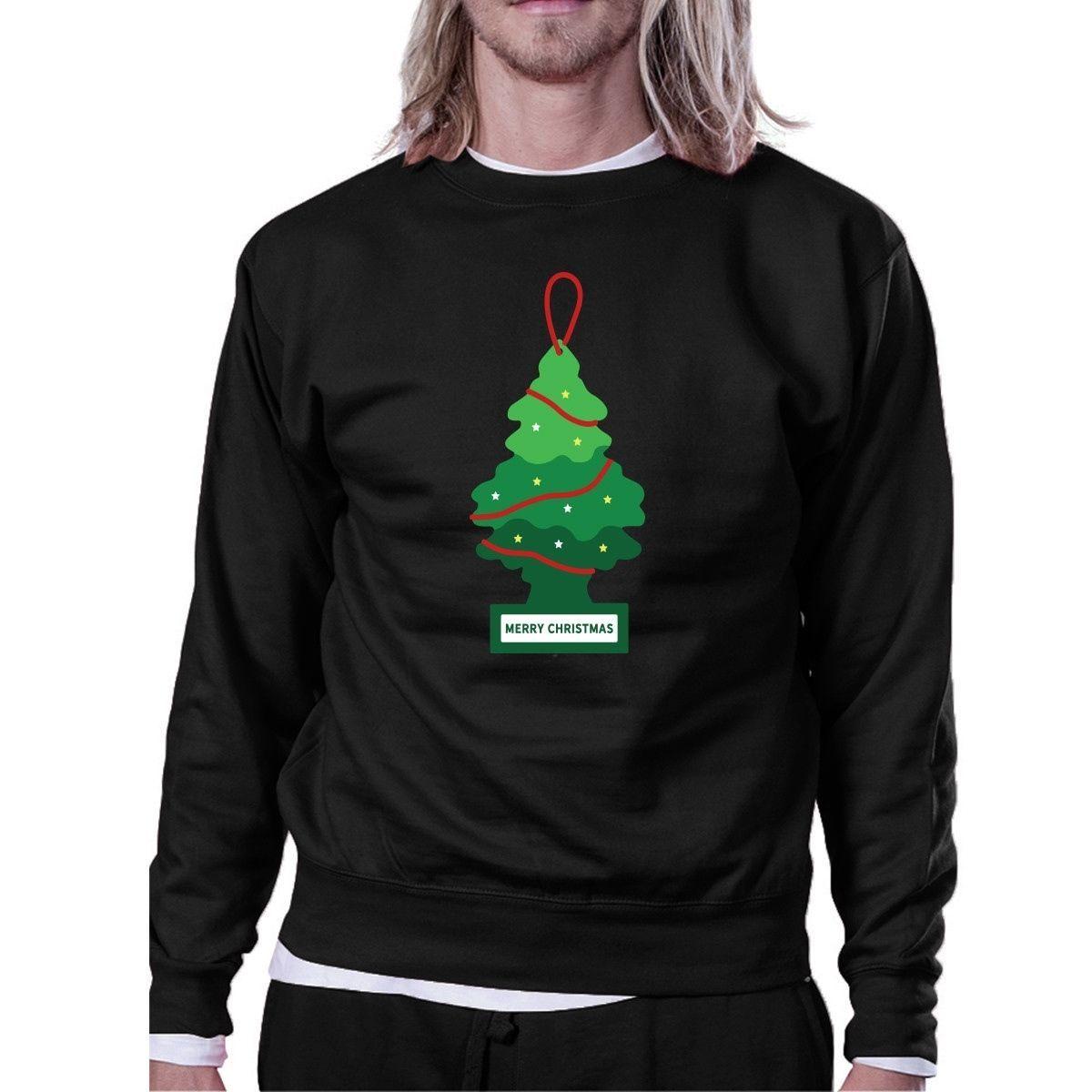 Merry Christmas Car Freshener Sweatshirt Funny Fleece Sweater - $20.99