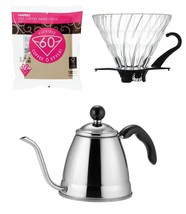 Hario V60 & Fino Coffee Products - 1.2 Liter Pot, Glass Dripper & Filters - $59.39