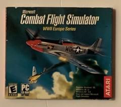 Atari Video Game PC Microsoft Combat Flight Simulator WWII Europe Series - $28.50