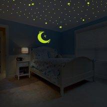 Custom Glowing Vinyl Ceiling, Wall Decal Starry Sky / Glow in the Dark Stars Spa - $76.21