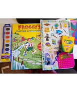 kids art craft supply lot crayola crayons watercolor paints stickers hom... - $12.99