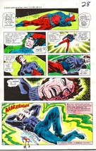 Original 1970s DC Comics JLA Justice League of America color guide art page:Atom - $99.50