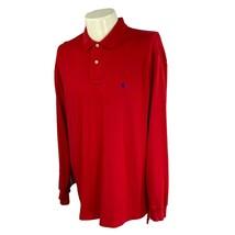 Polo Ralph Lauren Men's Interlock Long Sleeve 100% Cotton Red Shirt Large - $23.27