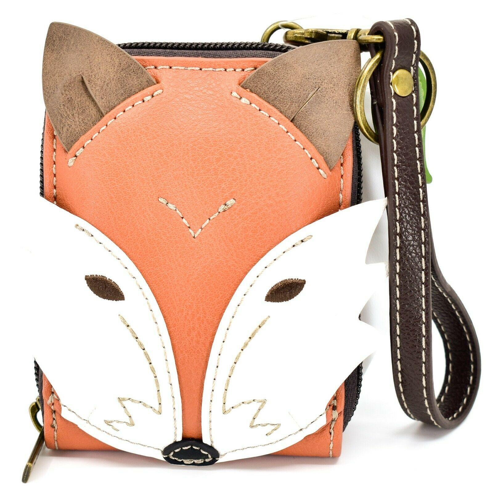 Chala Handbags Cute-C Red Fox Faux Leather RFID Credit Card Wristlet Holder