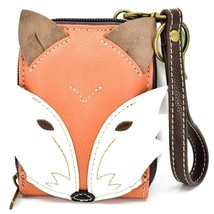 Chala Handbags Cute-C Red Fox Faux Leather RFID Credit Card Wristlet Holder image 1