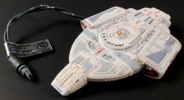 Star Trek USS Defiant Deep Space Nine Hallmark Magic Ornament Blinking L... - $17.32