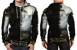 the lord of the ring the two towers movie  Hoodie Zipper Fullprint Mens - $48.99+