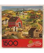 Vintage Springbok puzzle Golden Rule Days 1500 piece Bob Pettes 1989 Ame... - $5.00