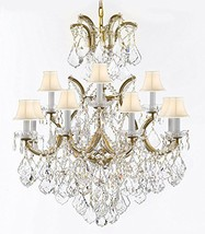 Maria Theresa Chandelier Lights Fixture Pendant Ceiling Lamp Dressed w/Large, Lu - $613.73