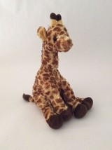 "TY Classic brown yellow HIGHTOPS THE GIRAFFE 14"" Tysilk plush toy 2010 - $7.69"