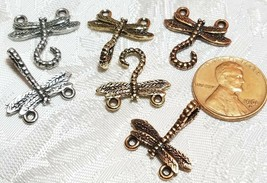 DRAGON FLY FINE PEWTER TOGGLE SET - 35x18x2mm image 2