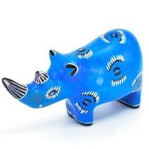Hand Carved Kenyan Kisii Soapstone Kifaru Blue Rhinoceros Rhino Figurine image 2