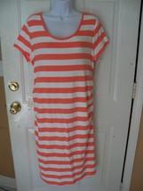 Liz Lange Maternity Shirt Dress Pink Stripe Size XL Women's NEW HTF - $27.90