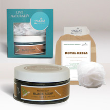 Exfoliating and Skin Care Kit! Moroccan Black Soap and Kessa - $22.79+
