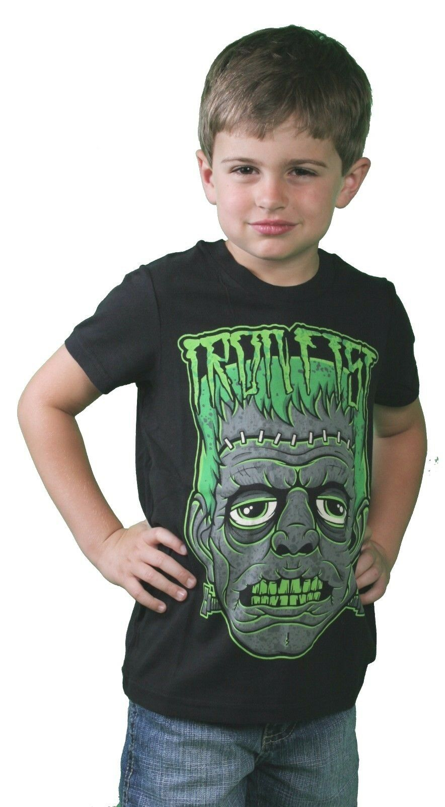 Iron Fist Black Little Boy's Cranky Frank Zombie Monster Kids Youth T-Shirt 4-5