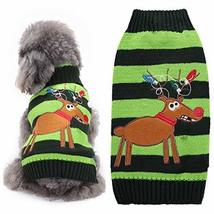 NACOCO Dog Sweater Cat Reindeer Xmas Christmas Pet Sweaters in Winter Cl... - $11.87