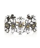 Juicy Couture Gold White Daisy Gemstone Drama Black Label Bracelet YJRU7... - $44.06