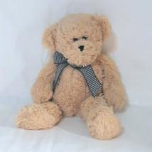 "2010 Circo Target Animal Adventure Teddy Bear Gingham Bow Plush Bean Bag Toy 13"" - $14.85"