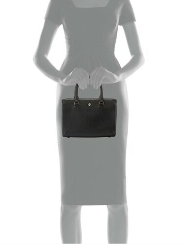 Tory Burch Robinson Leather Micro Zip Crossbody Bag - Black