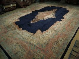 11x17 Navy Blue Handmade Open Field Durable Fine Original Persian Rug image 5