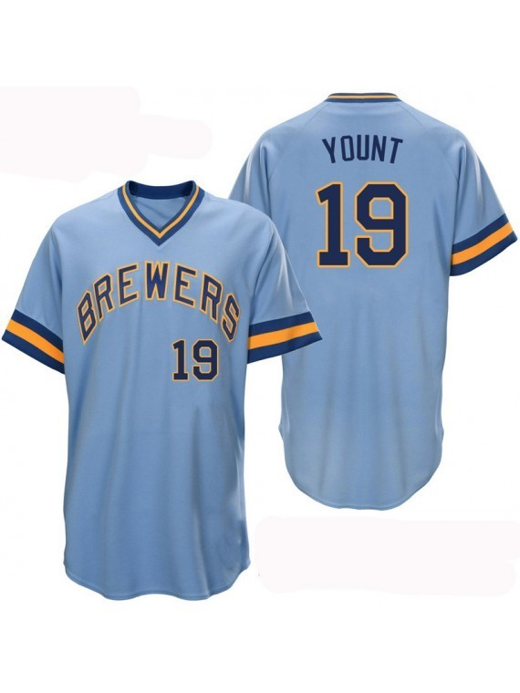 c5c4a47426d ... sale men s milwaukee brewers 19 robin yount light blue throwback cheap jersey  mlb 73803 c5c53