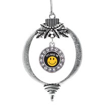 Inspired Silver Tips Make Me Smile Circle Holiday Decoration Christmas Tree Orna - €12,87 EUR