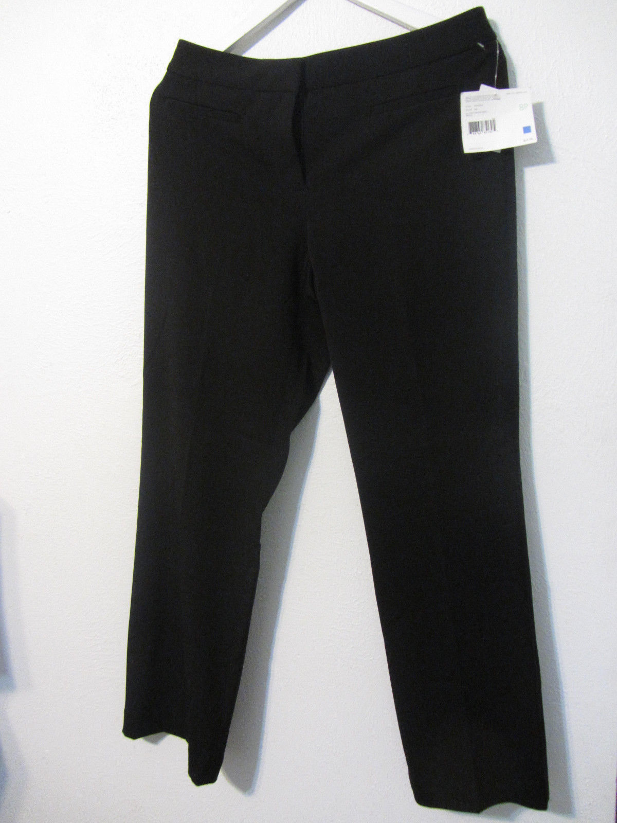 NWT Women's Liz Claiborne Audra tan Black straight leg dress pants ~ Size 8