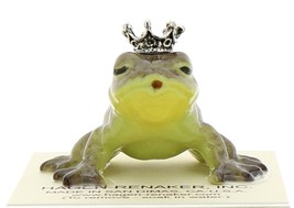 Hagen-Renaker Miniature Ceramic Frog Figurine Brown Frog Prince Kissing image 4