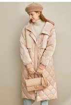 Women's European Brand Designer Thick Hooded Solid Quilted Down Winter Coat image 3