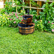 Yard garden barrell fountain thumb200