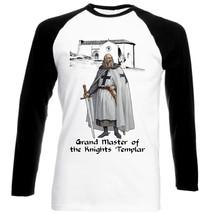 Knight Templar Grand Master - New Cotton Black Sleeved TSHIRT- All Sizes - $27.47
