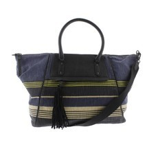 Splendid Salinas Weekender Tote Navy Stripe Canvas Beach Bag NWT $138 - $85.00