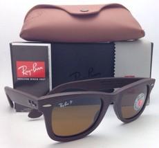 Polarisiert Ray-ban Sonnenbrille RB 2140-Q-M 1153/N6 Braun Leder Rahmen ... - $299.56