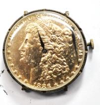 Vintage 1886 $1 Morgan Silver Dollar Wristwatch 233-68 Manual Wind 38mm - $98.99
