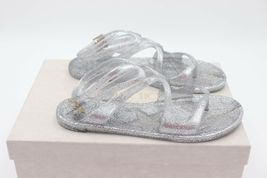 NIB Jimmy Choo Lance Silver Metallic Glitter Rubber Jelly Sandals 7 37 New image 5