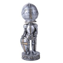 Medieval Knight With Shield and Sword Cool Bobblehead Collectible Figurine - $19.78