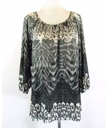 AVENUE Plus Size 22W 24W Matte Jersey Knit Gathered Tunic Top - $17.99