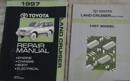 1997 Toyota Land Cruiser Service Shop Reparatur Werkstatt Manuell Set OEM W - $168.30