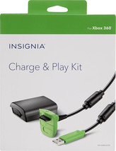 Xbox 360 Play Charge Kit 10' USB Controller Cable & 1200mAh Rechargeable... - $8.91