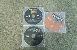 lot of 3 video games by wii - $5.90