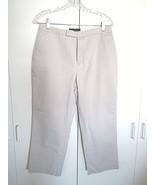 BANANA REPUBLIC PREMIUM CHINOS LADIES TAN 100% COTTON CROPPED PANTS-10R-... - $8.99