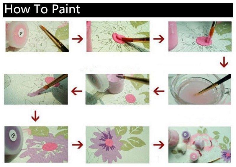 """Santa Chrismas 16X20"""" Paint By Number Kit DIY Acrylic Oil on Canvas Frameless"""
