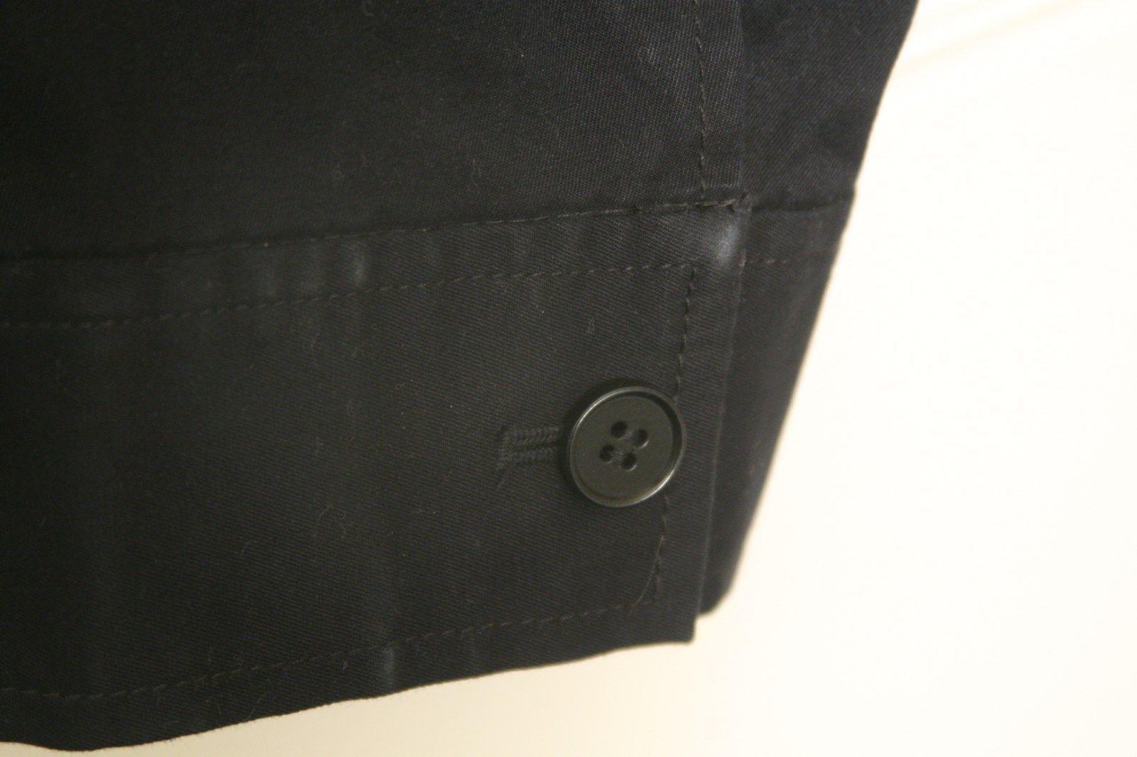 Talbots Ruffle Cotton Tailored Blazer Womens 12 Classic Grace Fit Navy Blue  image 3