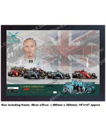 6 TIME F1 WORLD CHAM Lewis Hamilton signed autographed Framed Large SIZE... - $44.03