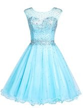 Short Tulle Sweetheart Homecoming Dress Backless Prom Dresses Cocktail G... - $125.00