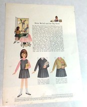 Betsy McCall Paper Doll, Uncut with Clothes, Betsy McCall and the Big Ne... - $5.94