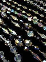 4 Vintage Crystal Jewelry  Necklaces SWAROVSKI Crystals Cut Glass RAINBOW Tones  - $82.99